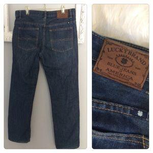 Lucky Brand Billy Straight Dark wash Jeans Sz 16